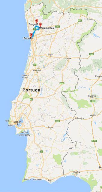 guimaraes mapa portugal One day in Guimarães and Braga   Portugal B'side guimaraes mapa portugal