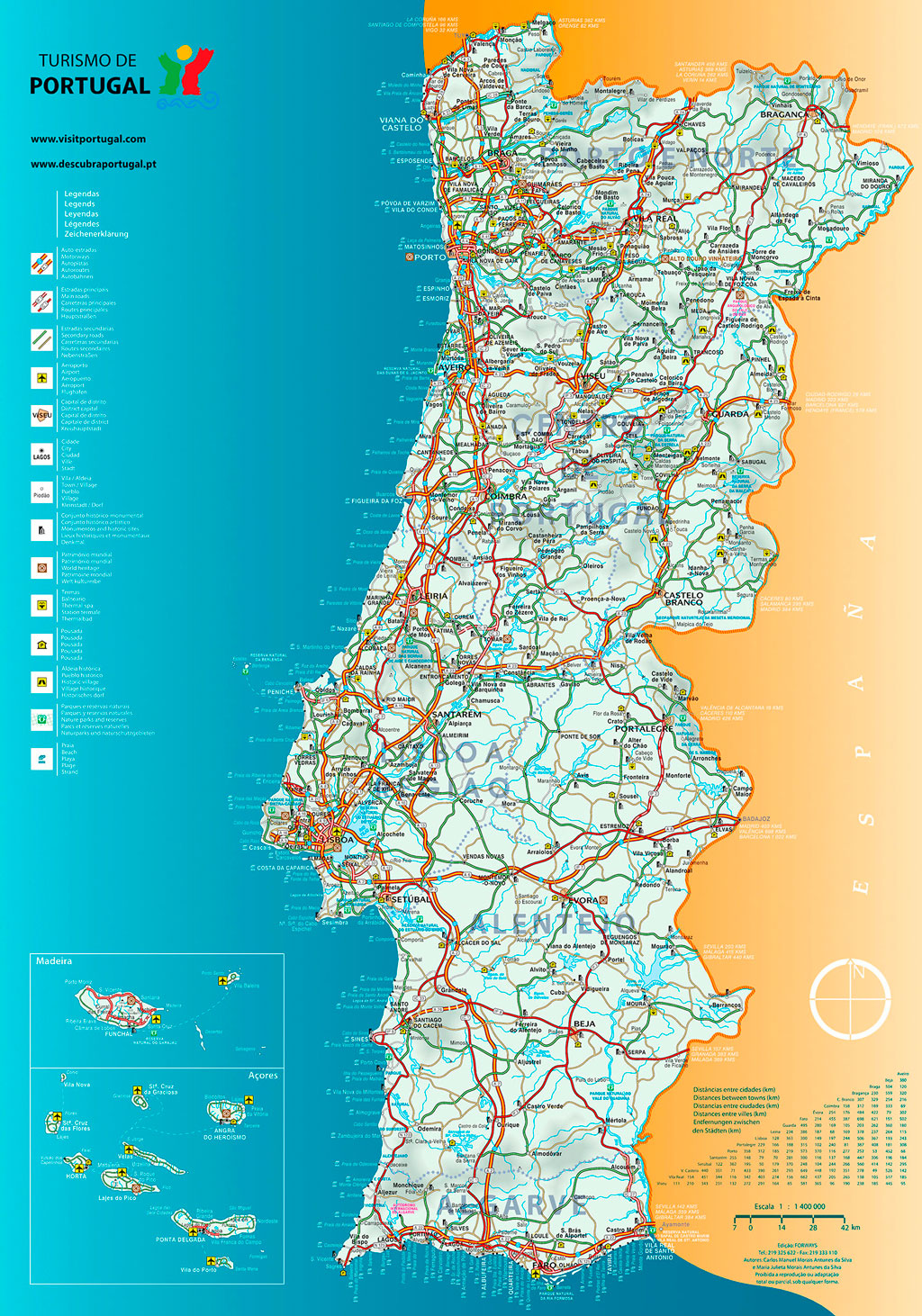 mapa de estradas de portugal norte Maps   Portugal B'side mapa de estradas de portugal norte