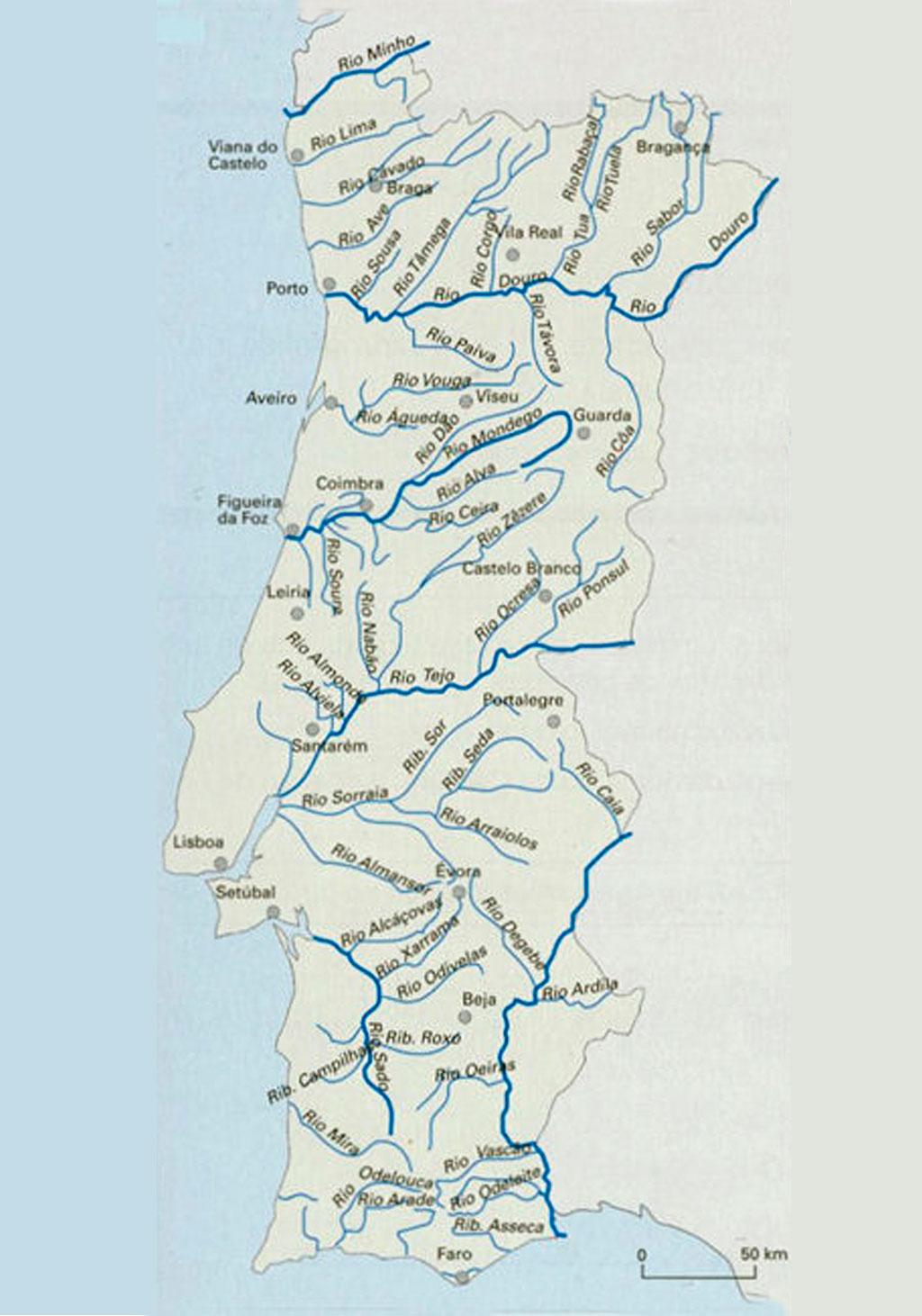 mapa rios portugal Maps   Portugal B'side mapa rios portugal