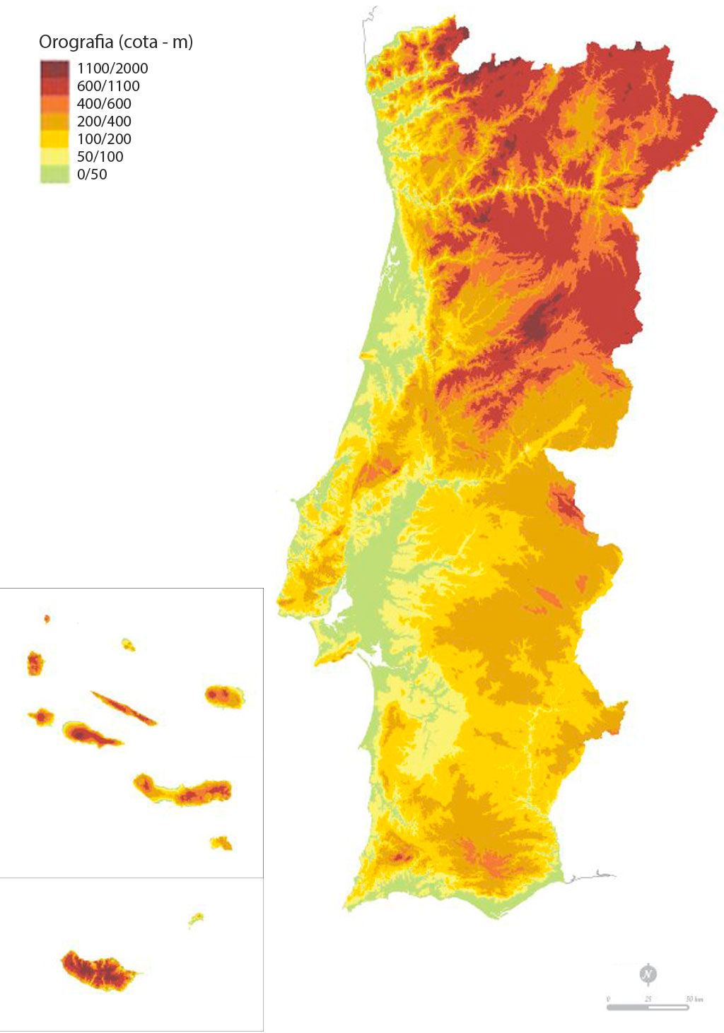 mapa de portugal com relevo Maps   Portugal B'side mapa de portugal com relevo